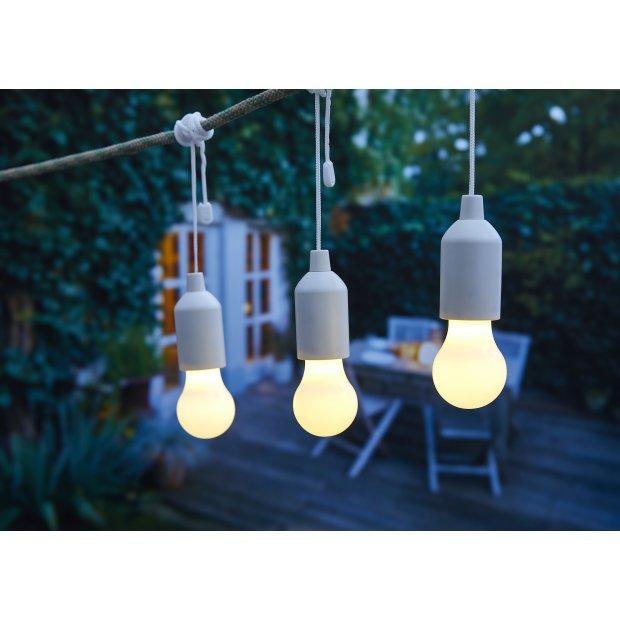 LED Ziehlampe verschiedene Farben 3er Set Weiß
