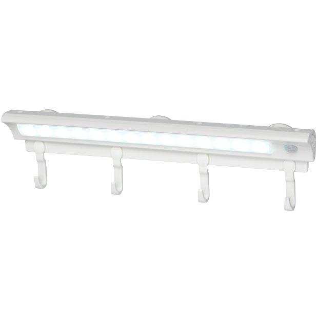 LED Sensorleuchte Garderobenleiste mit Bewegungsmelder Dämmerungssensor 4 Haken