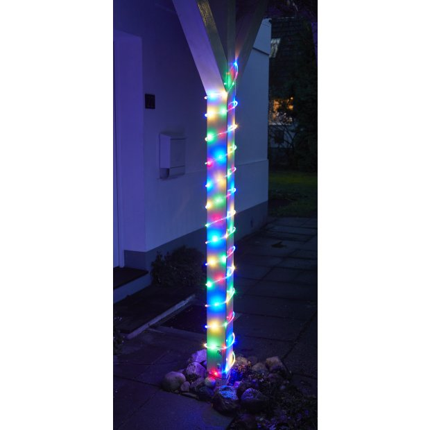 Northpoint LED Lichtschlauch Lichterkette 12m IP44 Warmweiß und RGB Tube-Light 240 LEDs Fernbedienung