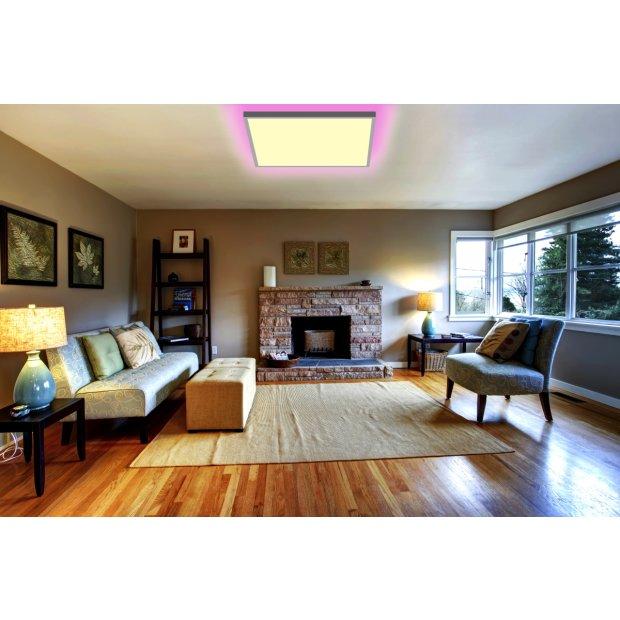 Northpoint LED Panel 15W Warmweiß / Kaltweiß Mood RGB Hintergrundbeleuchtung Fernbedienung 45x45 cm