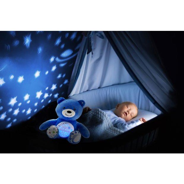 Northpoint LED Plüschtier Sternenprojektor Nachtlicht mit 13 Schlummermelodien / waschbar / Lautstärke einstellbar Bärchen