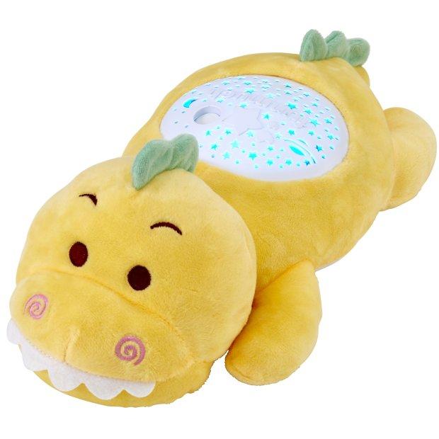 Northpoint LED Plüschtier Sternenprojektor Nachtlicht mit 13 Schlummermelodien / waschbar / Lautstärke einstellbar Dino
