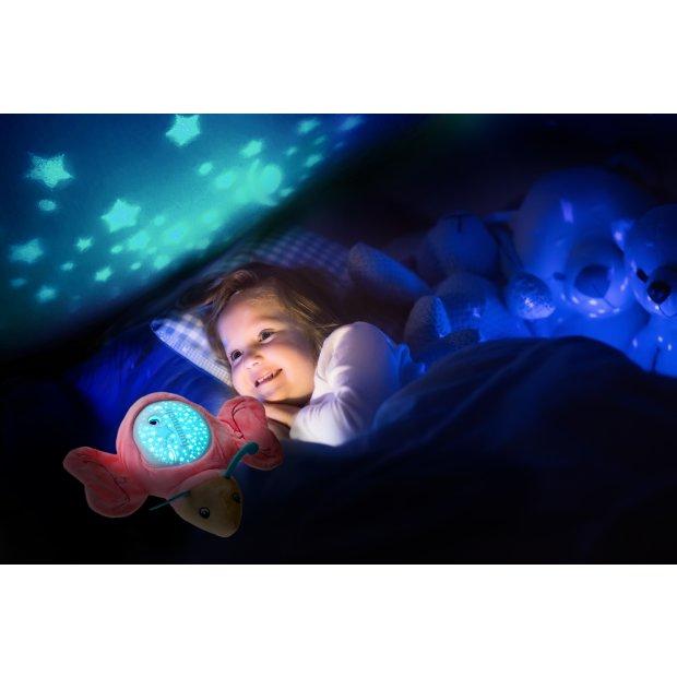 Northpoint LED Plüschtier Sternenprojektor Nachtlicht mit 13 Schlummermelodien / waschbar / Lautstärke einstellbar Schmetterling