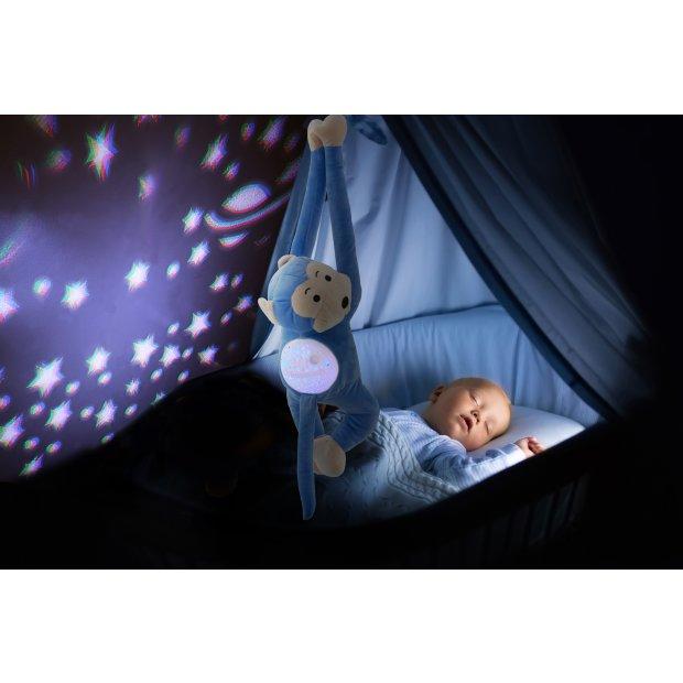 Northpoint LED Plüschtier Sternenprojektor Nachtlicht mit 13 Schlummermelodien / waschbar / Lautstärke einstellbar Äffchen
