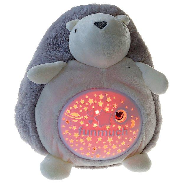 Northpoint LED Plüschtier Sternenprojektor Nachtlicht mit 13 Schlummermelodien / waschbar / Lautstärke einstellbar Igel