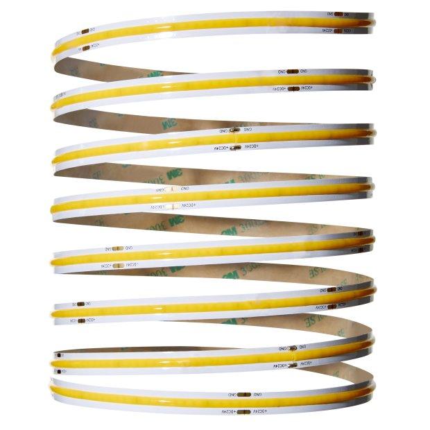 Northpoint LED COB Streifen Band Strip 3 Meter 24W warmweiß 3000K kürzbar mit Netzteil
