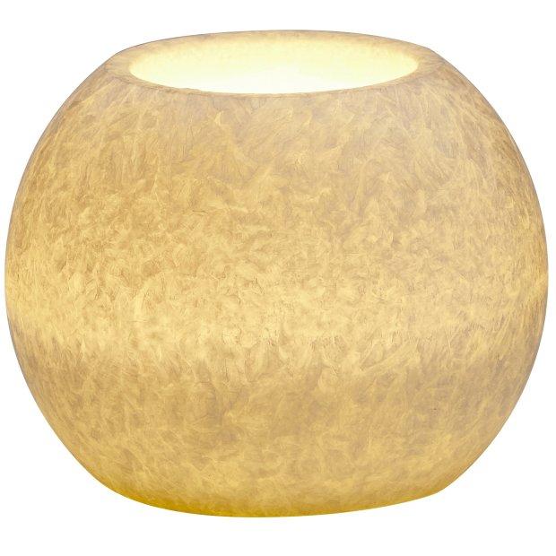 LED Echtwachs Kerze mit natürlicher Flackerfunktion und integriertem 6 Stunden Timer Kugel Icy