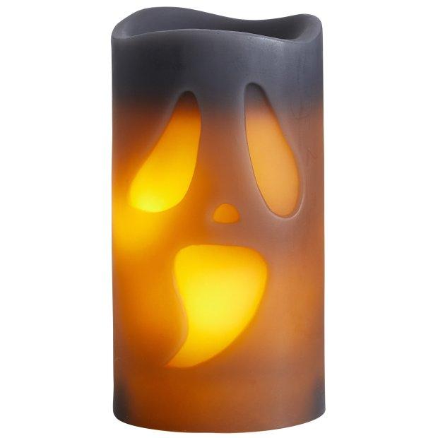 LED Halloween Kerzen Echtwachs verschiedene Modelle Flackerlicht Ghost