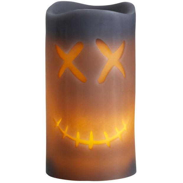 LED Halloween Kerzen Echtwachs verschiedene Modelle Flackerlicht X-Eyes