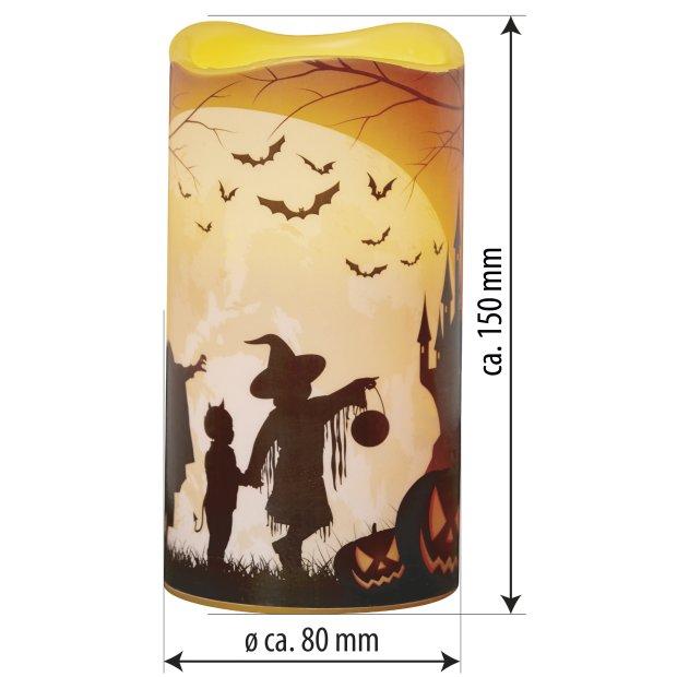 LED Halloween Kerzen Echtwachs verschiedene Modelle Flackerlicht Gruselschloss
