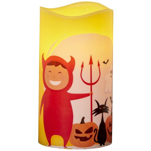 LED Halloween Kerzen Echtwachs verschiedene Modelle Flackerlicht Teufelchen