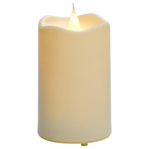 Northpoint LED Outdoor Kerzen wasserfest mit Timer-und Flackerfunktion flammenlose Kerze Ø7cm x 10cm Höhe