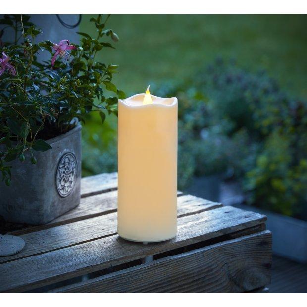 Northpoint LED Outdoor Kerzen wasserfest mit Timer-und Flackerfunktion flammenlose Kerze Ø7cm x 15cm Höhe