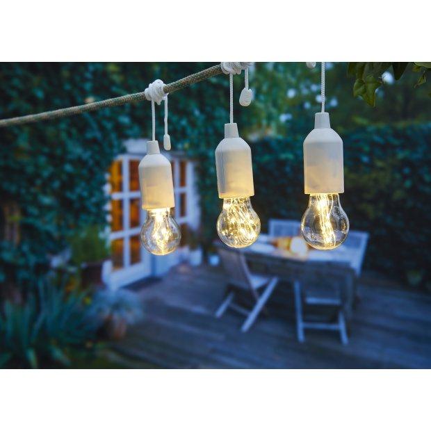 LED Ziehlampe verschiedene Farben 3er Set Micro-LED Weiß