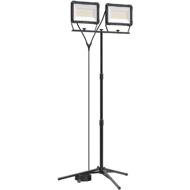 Northpoint LED Blackline Doppelbaustrahler mit Stativ (2x150W, 2x12500 Lumen, 1,70m)