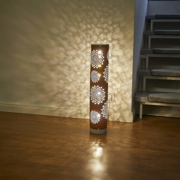 LED Mini Lichtsäule Windrose - Braun