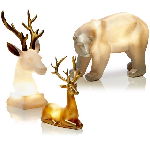Northpoint LED Tiere aus Polyresin mit warmweißer...