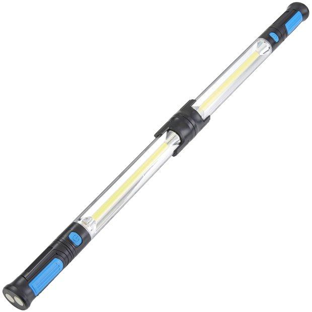 Northpoint XXL Arbeitsleuchte Werkstattleuchte kabellos Li Ion Akku 2x2000 mAh 2x einzeln und zusammengesteckt bis zu 87cm Gesamtlänge Lichtfarbe 5000K 1000 Lumen