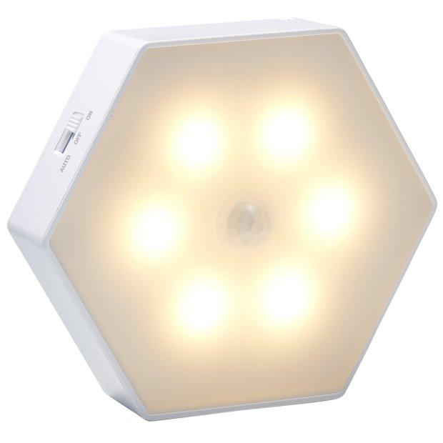 Northpoint LED Batterie Sensorleuchte, Schrankleuchte, schöne warmweiße LEDs, eingebauter Magnet, 3000K Lichtfarbe