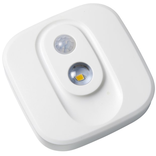 LED Spot Strahler mit Bewegungsmelder Helligkeitssensor Batterie Flur Keller