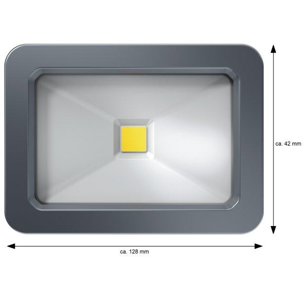 Northpoint 15W LED Strahler Fluter Außen 1125LM Außenstrahler, IP65 Wasserdicht  6500K Kaltweiß Grau