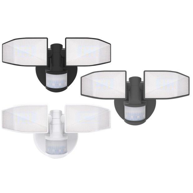 Northpoint LED Batterie Strahler mit Bewegungsmelder und schwenkbaren Köpfen