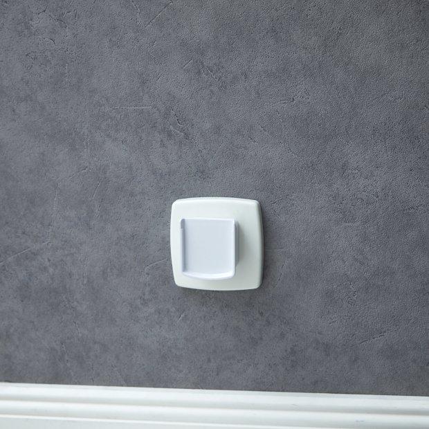 LED Steckdosen Nachtlicht kaltweiß Taschenlampe Weiß Wandleuchte Multifunktion Bewegungsmelder Induktionsladung Akku Notlicht Notlampe Stromausfall Flach