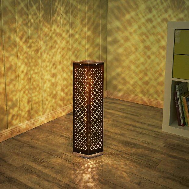 LED Mini Lichtsäule Schwarz Eckig