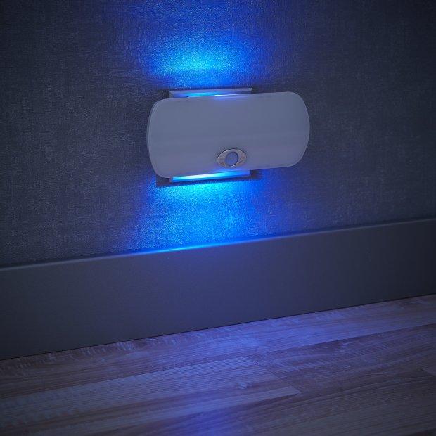Northpoint LED Steckdosen Nachtlicht Taschenlampe Weiß Wandleuchte Multifunktion Bewegungsmelder Induktionsladung Akku Notlicht