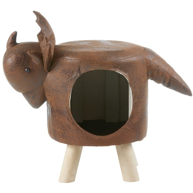 Katzenhöhle Katzenbett Hundehöhle Hundekorb im Dinosaurier Design - ideal für Kinderzimmer