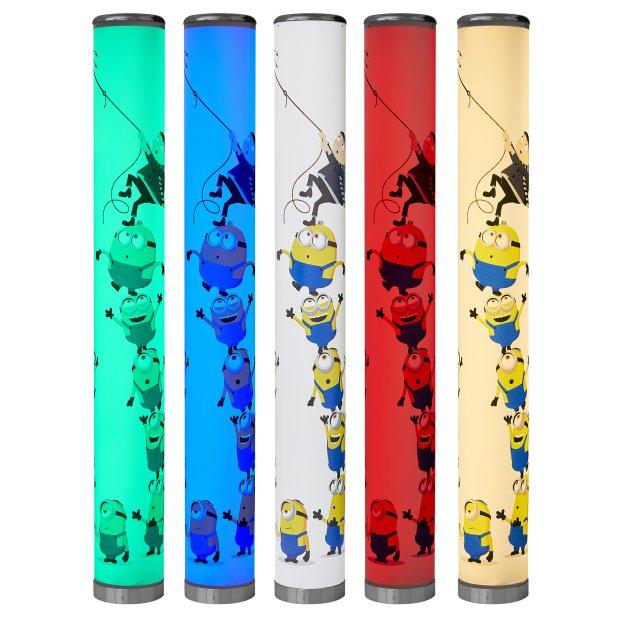 Northpoint LED Minions Turm Stehlampe Lichtsäule 100cm glatt Standleuchte Stehleuchte dimmbar Farbwechsel mit Fernbedienung
