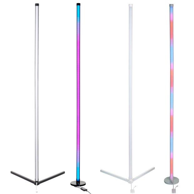 Northpoint LED Stehlampe Ecklampe mit Fernbedienung integriertem Musiksensor RGB + Warmweiß Farbeffekte
