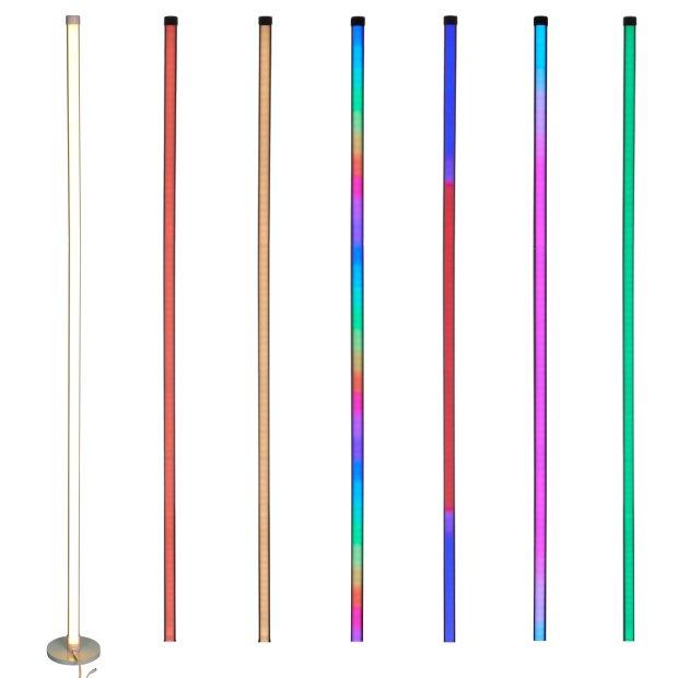 Northpoint LED Stehlampe Ecklampe mit Fernbedienung integriertem Musiksensor RGB + Warmweiß Farbeffekte Rund Weiß