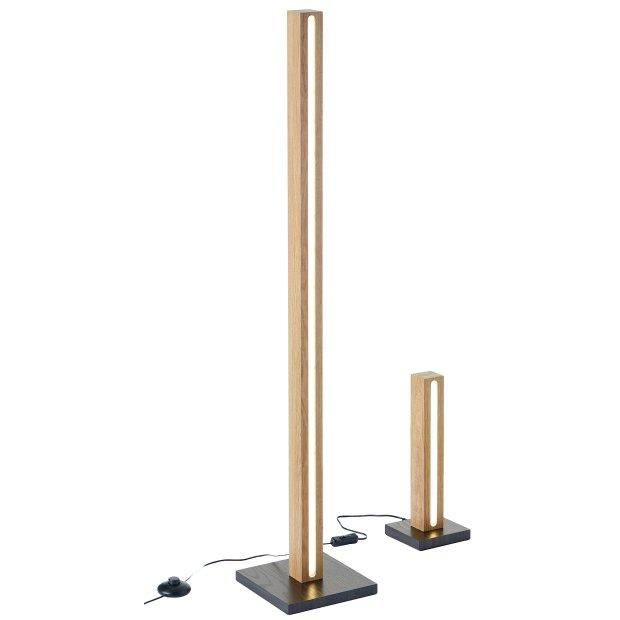 Northpoint LED Holz Stehleuchte Stehlampe Lichtsäule in verschiedenen Größen