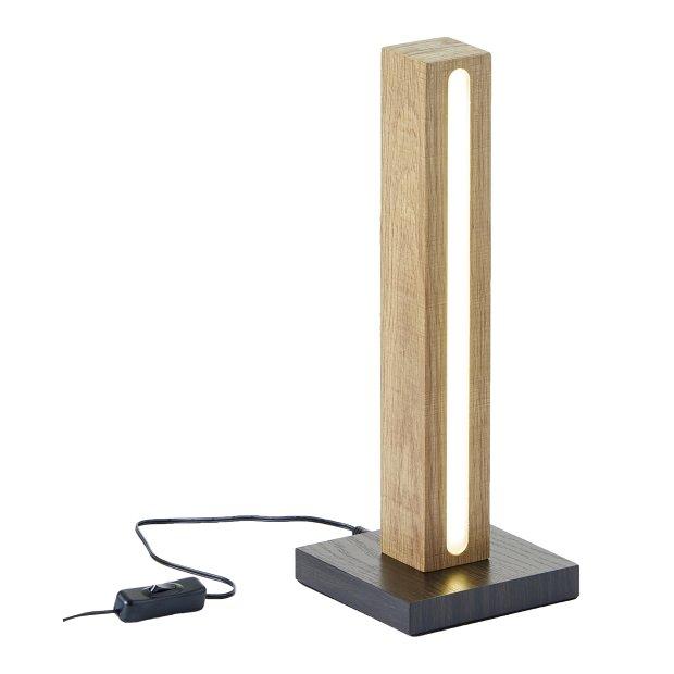 Northpoint LED Holz Stehlampe Stehleuchte Lichtsäule 36cm mit Netzkabel und Schalter