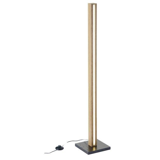 Northpoint LED Holz Stehlampe Stehleuchte Lichtsäule 110cm mit Netzkabel und Fußtrittschalter