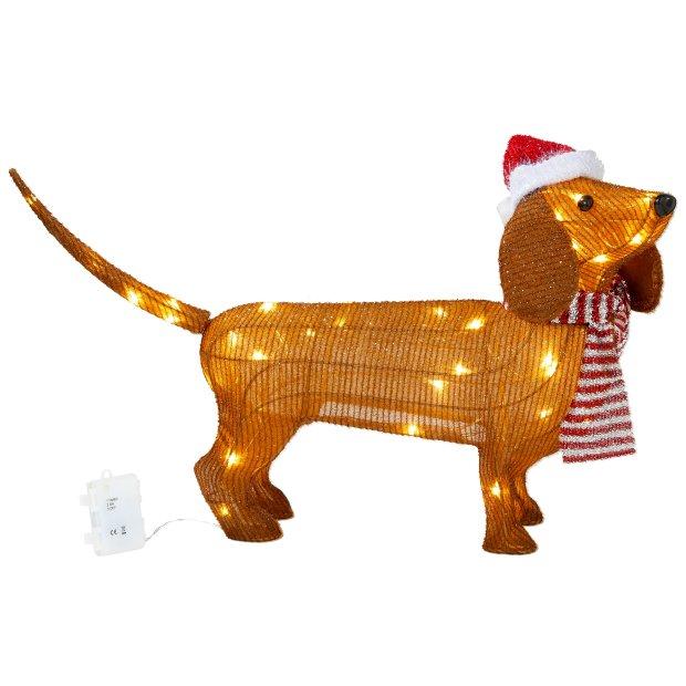 Northpoint LED Weihnachtsfiguren mit integriertem Timer Dackel