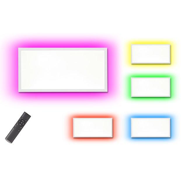 B-Ware Northpoint LED Panel 15W Warmweiß / Kaltweiß Mood RGB Hintergrundbeleuchtung Fernbedienung 60x30cm