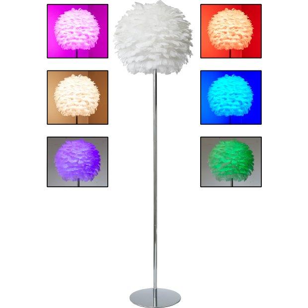 Northpoint LED Feder Stehleuchte Stehlampe Chrome Finish Metall Standfuß 150cm  hoch ohne Leuchtmittel E27 Fassung