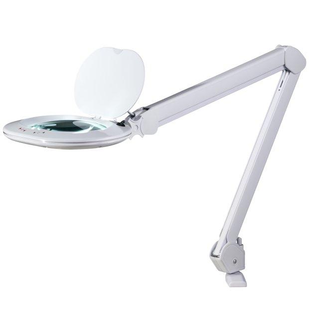 LED Lupenlampe Lupenleuchte WerkstattlampeTischhalterung 5 Dioptrien Dimmbar Farbtemperatur einstellbar