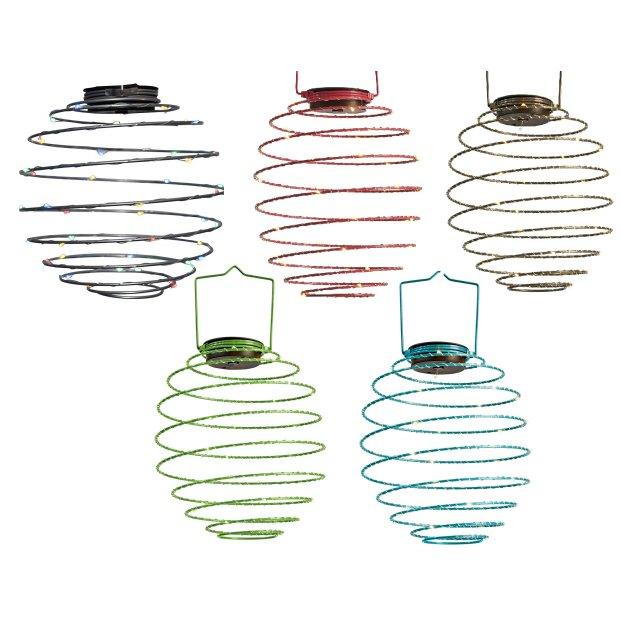 LED Solar Spiral Laterne 22cm Durchmesser...