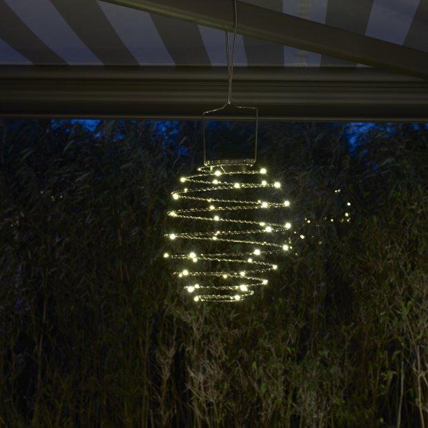 Northpoint LED Solar Spiral Laterne 22cm Durchmesser Hängelaterne Gartendekoration Wintergartendekoration Terrassendekoration Pink