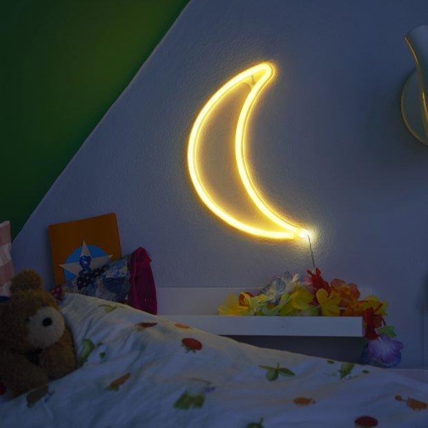 LED Nachtlicht für das Kinderzimmer in 3 schönen Motiven 3xAA-Batterien oder über USB Mond