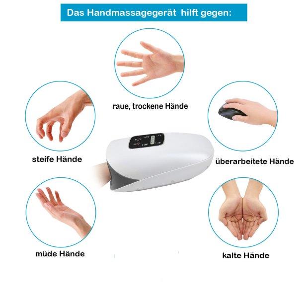 Northpoint Elektrisches Hand-Massagegerät Massage Druckmassage Entspannung Heizfunktion