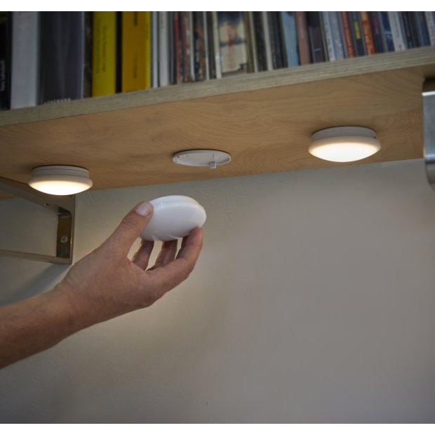 LED Beleuchtungsspots 3er Set RGB und Warmweiß Wiederaufladbar