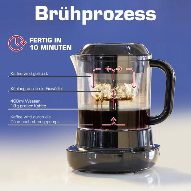 Elektrische Cold Brew Coffee Maker Kaffeemaschine Kaffeezubereiter 0,7L