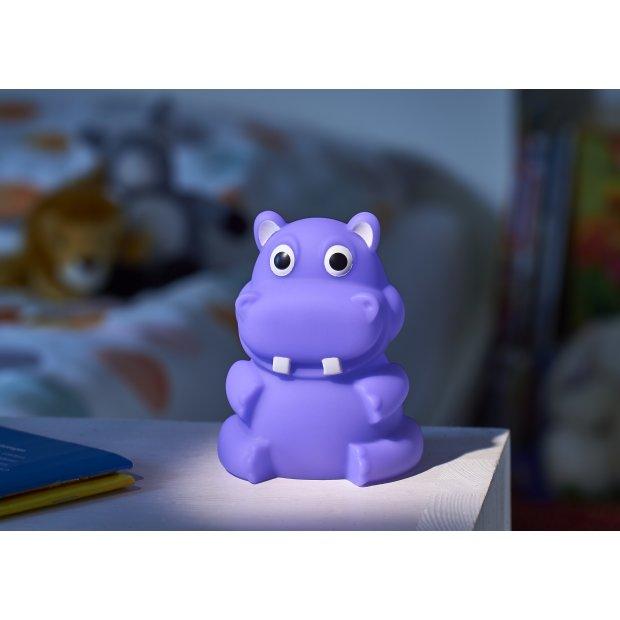LED Kindernachtlicht in verschiedenen Designs Nilpferd