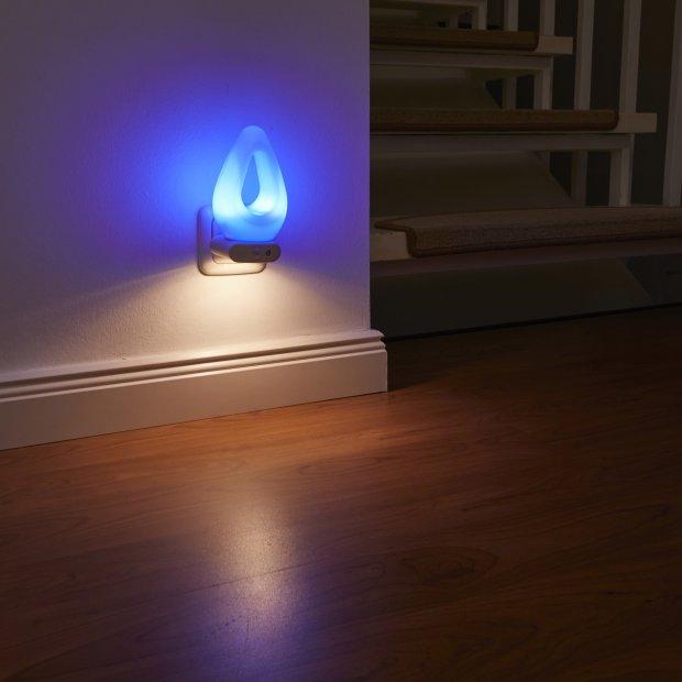 LED Steckdosen Nachtlicht warmweiß & farbig Taschenlampe Weiß Wandleuchte Multifunktion Bewegungsmelder Induktionsladung Akku Notlicht Notlampe Stromausfall Tropfenform