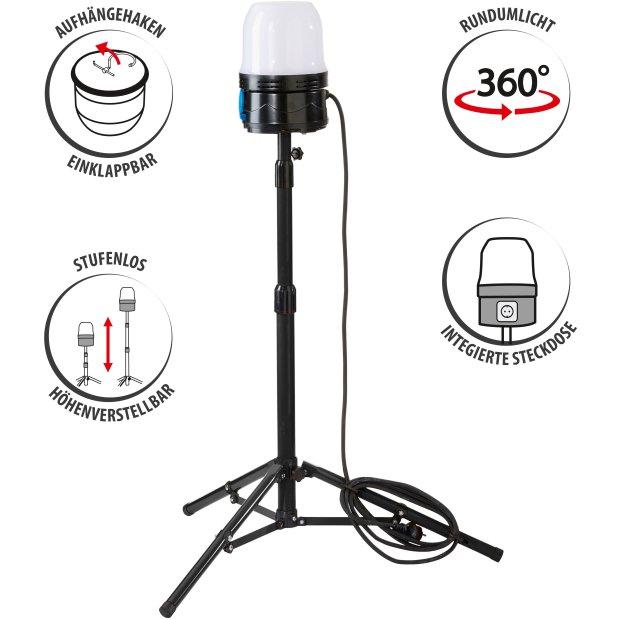 LED 360° Arbeitslampe Baustrahler mit Stativ, 3m...