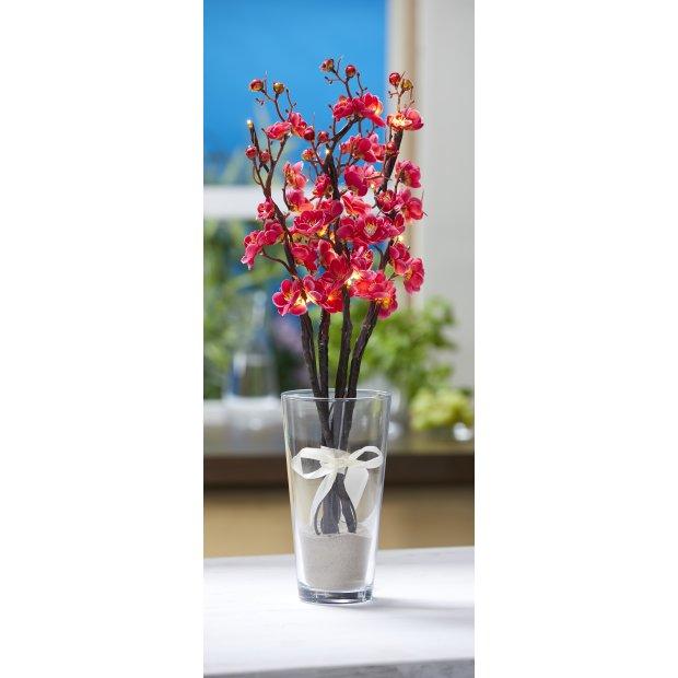 LED Pflanze Dekozweige Lichterzweige Dekoration 54cm hoch Timerfunktion inkl. Batterien